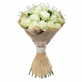 Wrapped Long-Stemmed Roses